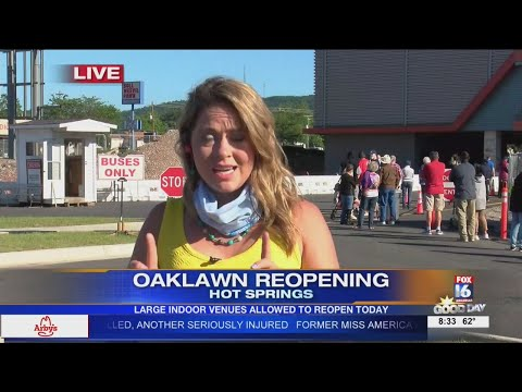 Watch: Oaklawn Gaming reopens for business