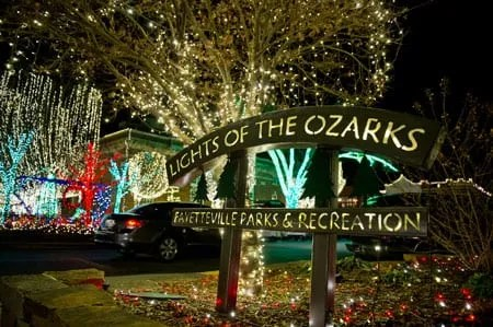 the lights of the ozarks a holiday celebration of lights in fayetteville that occurs on the saturday before thanksgiving and concludes on new years eve
