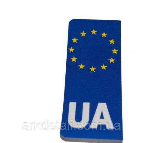 Наклейка на номерной знак «Евро UA»