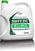 Антифриз EURO G11, (-40), 5л, зел, Sintec