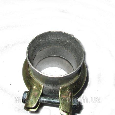 Хомут глушителя d 60mm с патрубком (иномар.)