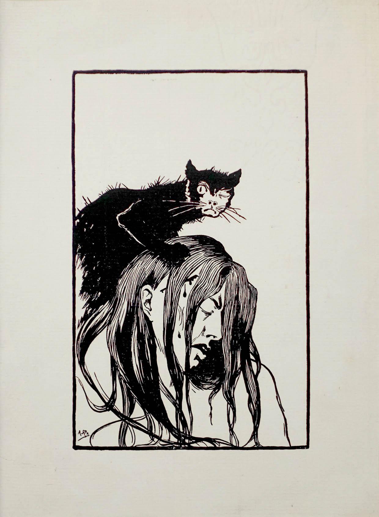 Arild Rosenkrantz, Den sorte kat, 1908-1909. Foto: Rudi Hass