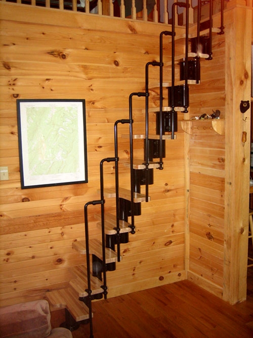 Fontanot Arke Diy Staircase Kits Online | Staircases For Small Cottages | Open | Small Footprint | Skinny | Corner | Wooden
