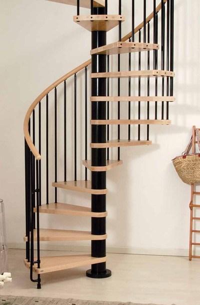 Phoenix Wood Tread Spiral Staircase Kit Metal Steel And Wood   Metal And Wood Stairs   Straight   Diy   Residential   Rustic   Stair Railing
