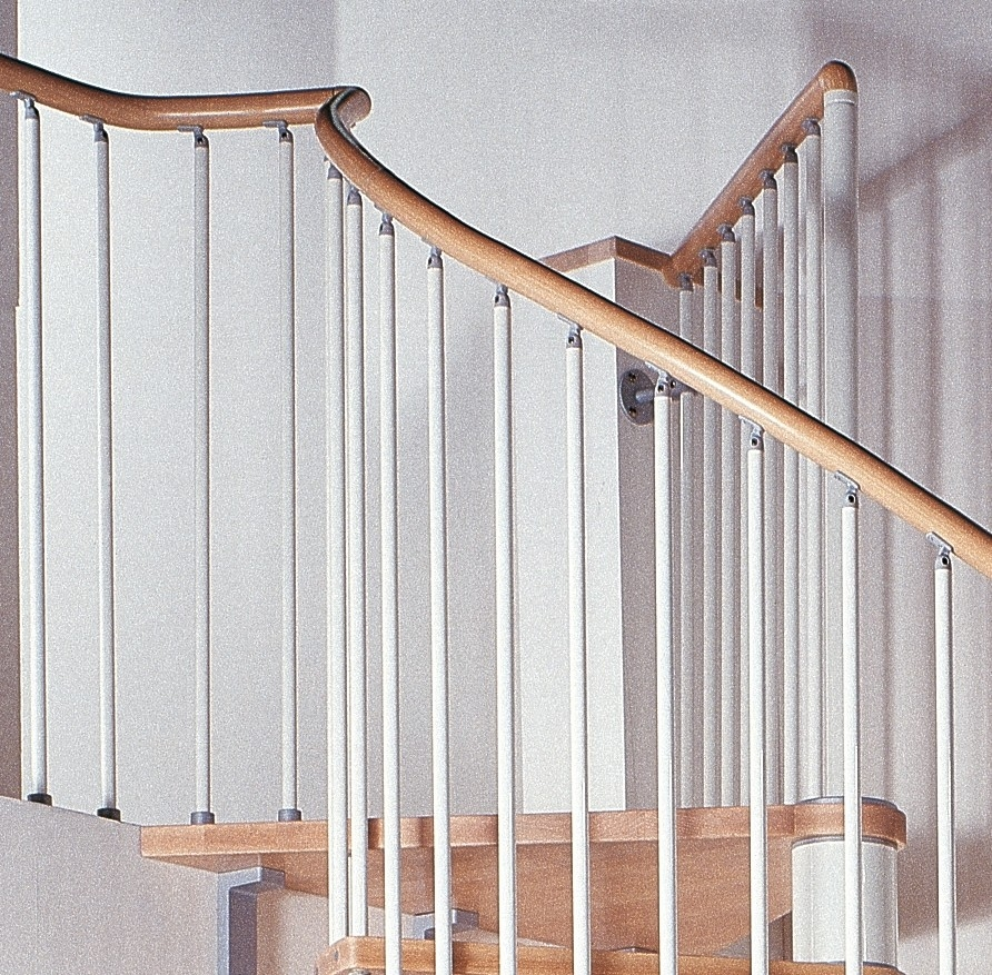 Phoenix Wood Tread Spiral Staircase Kit Metal Steel And Wood | Iron And Wood Staircase | Internal | Farmhouse | Free Standing Wood | Modern | Design