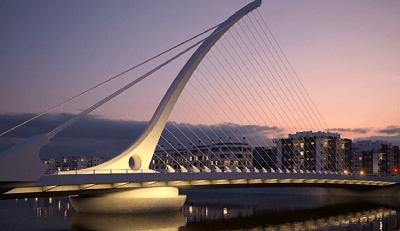 puente samuel beckett dublin irlanda obras de santiago calatrava