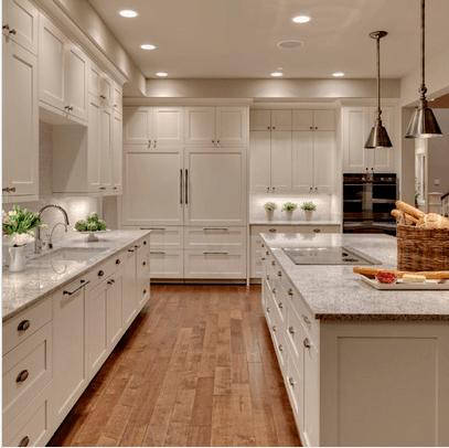 Cocinas blancas. Fotos - Arkiplus.com