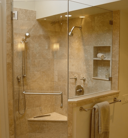 Dise os de duchas modernas for Aseos pequenos con ducha