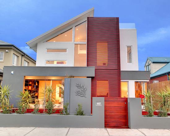 Fachadas de casas modernas for Fachadas para residencias