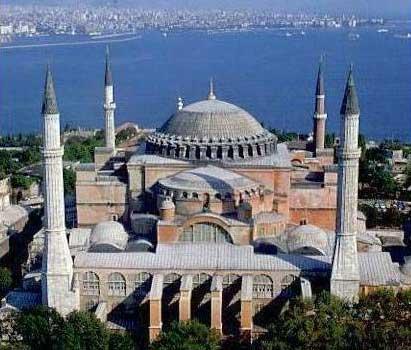 Hagia Sofía en Estambul.