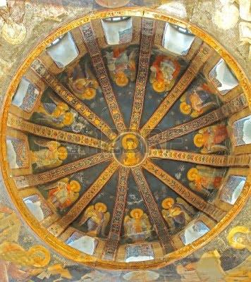 La Virgen y el niño en la Paracclesion de la iglesia bizantina de San Chora.