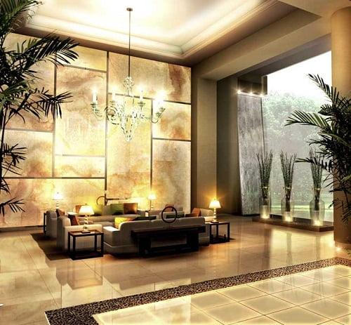Lobby residencial.