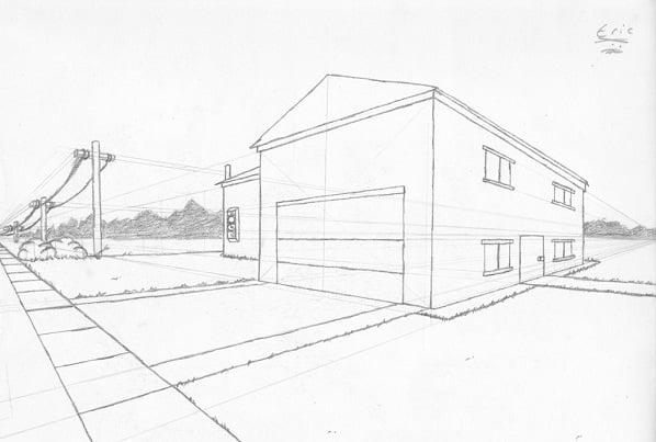 Fachadas de casas dibujo t cnico arkiplus - Casas dibujadas a lapiz ...