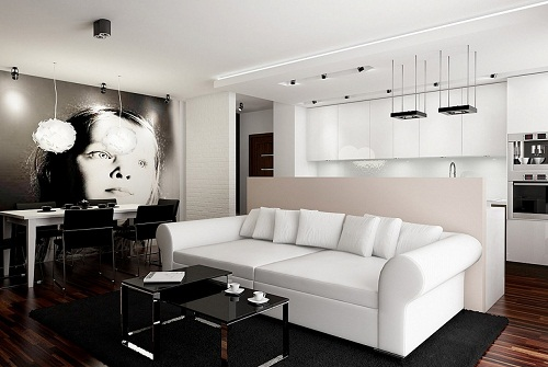 Decoraci n de interiores en blanco y negro - Casas decoradas en blanco ...