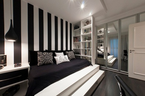 Decoraci N De Interiores En Blanco Y Negro Arkiplus