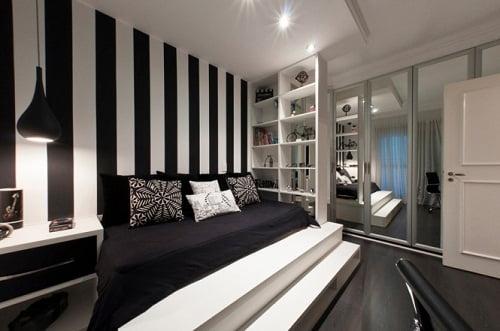 Decoraci n de interiores en blanco y negro arkiplus - Entrancing pictures of red black and white teenage bedroom decorating design ideas ...