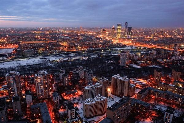 La hermosa ciudad de Moscú.