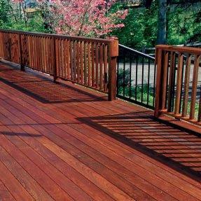 Deck de madera de Ipé