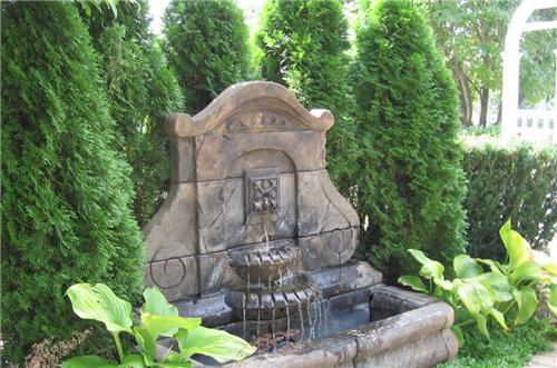 Ideas para usar fuentes en patios o jardines Arkipluscom