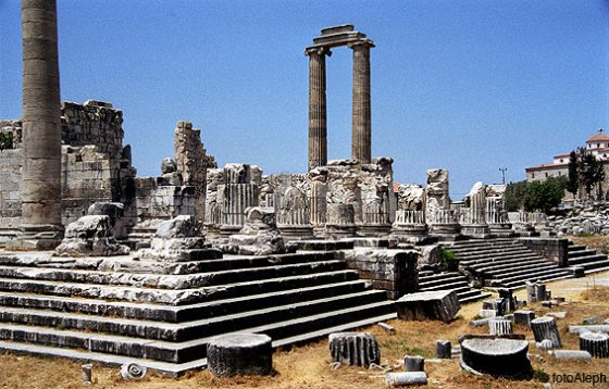 Didima.  Templo oracular de Apolo, conocido como Didimaion