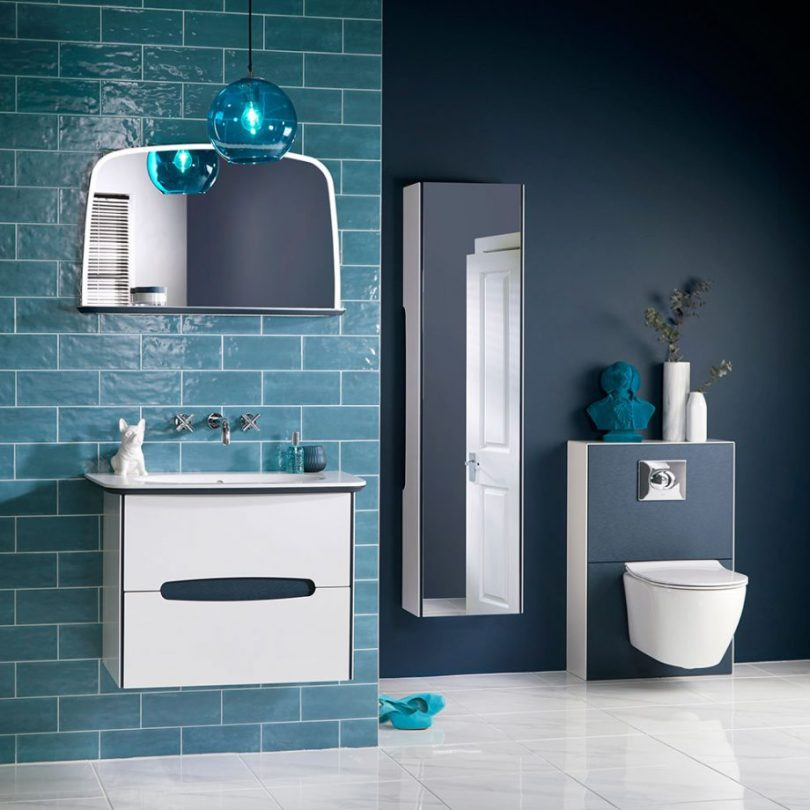 onekindesign, decorating toilet room, main bathroom ideas, small bathroom before and after,