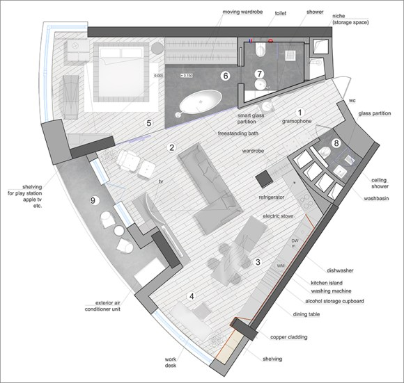 33bt architecture, Ukrain, buchan, modern apartment interior, apartment design,