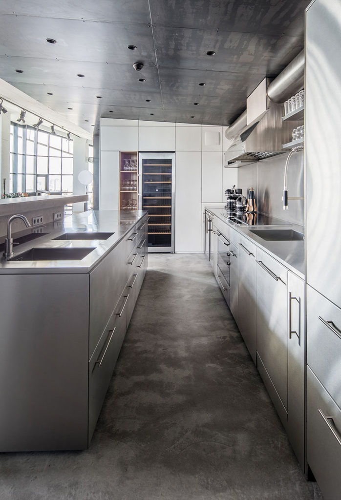 industrial interior design of penthouse, interior design ideas for penthouses,