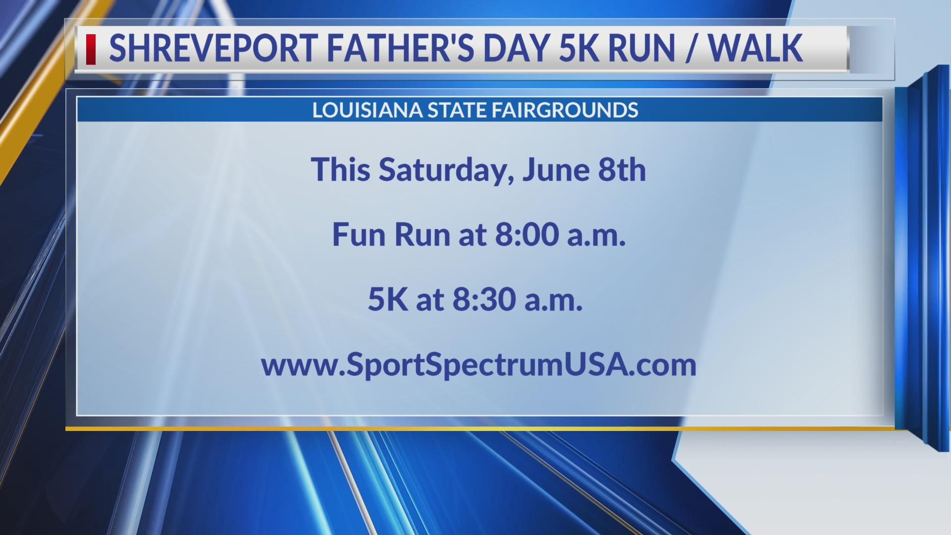 Inaugural Shreveport Father's Day 5K Walk/Run