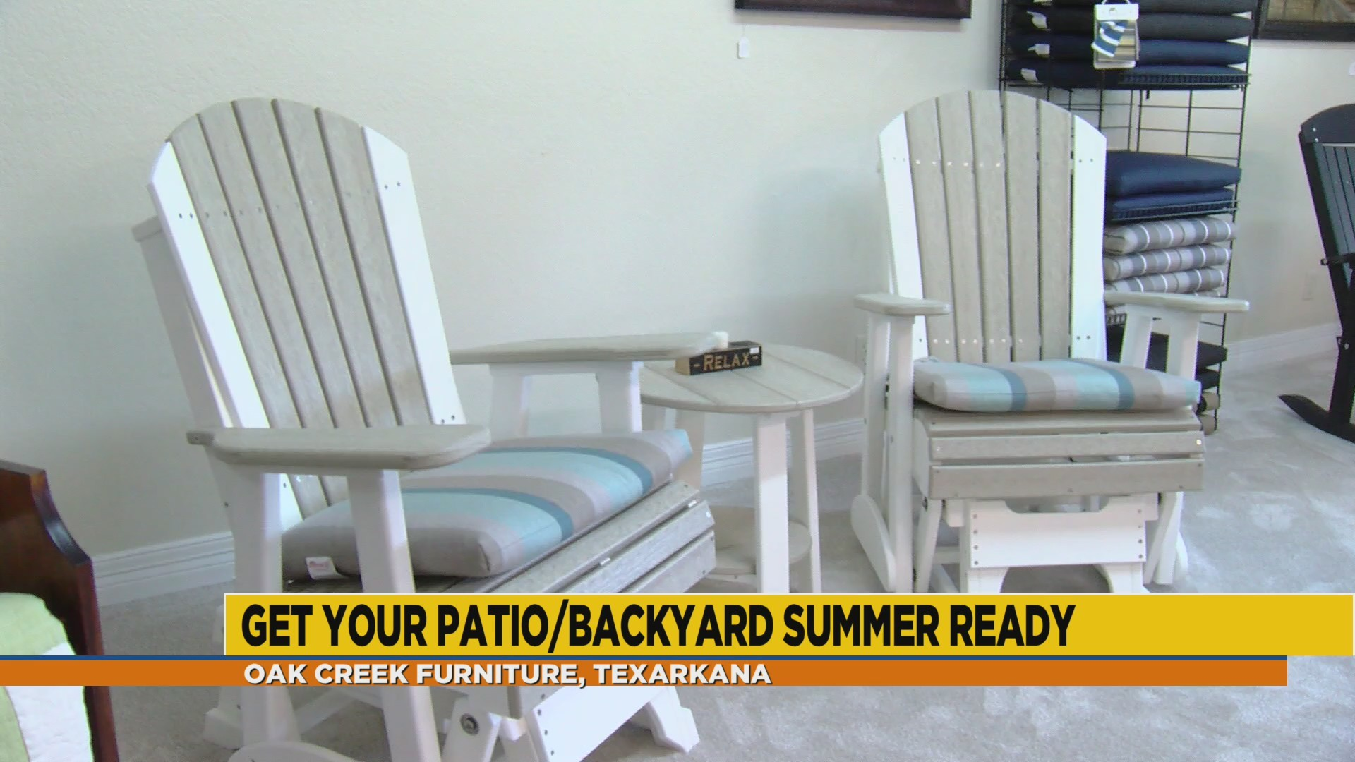 Revamp your patio for summer with Oak Creek Furniture