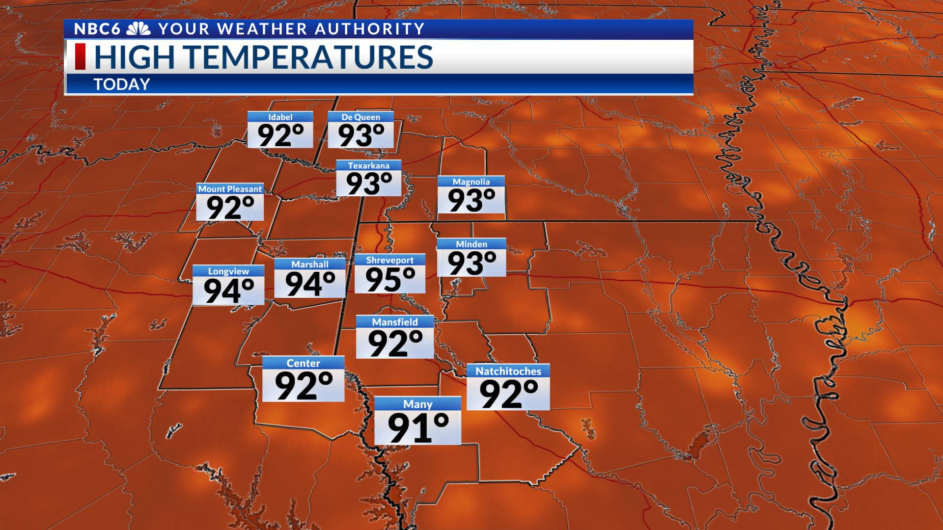 0c0a44f4d6740 Heat is on the increase with slight rain chances Tuesday ...