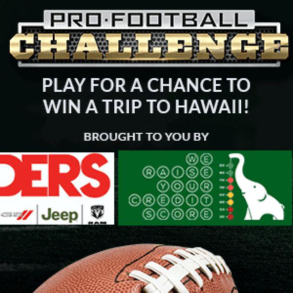 Pro Football Challenge web banner 500x300