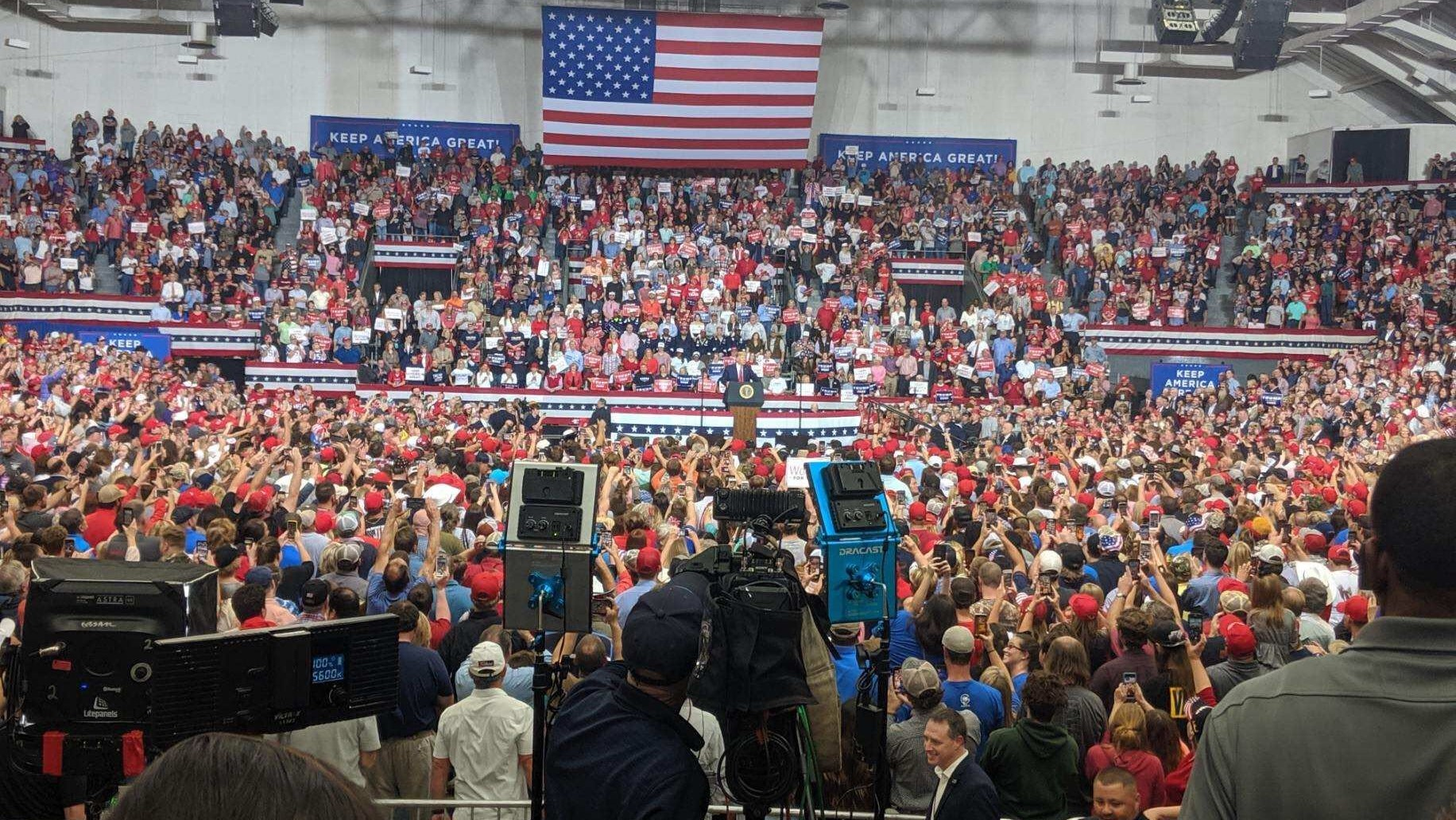 Image result for Trump Campaign Rally in Monroe, Louisiana,