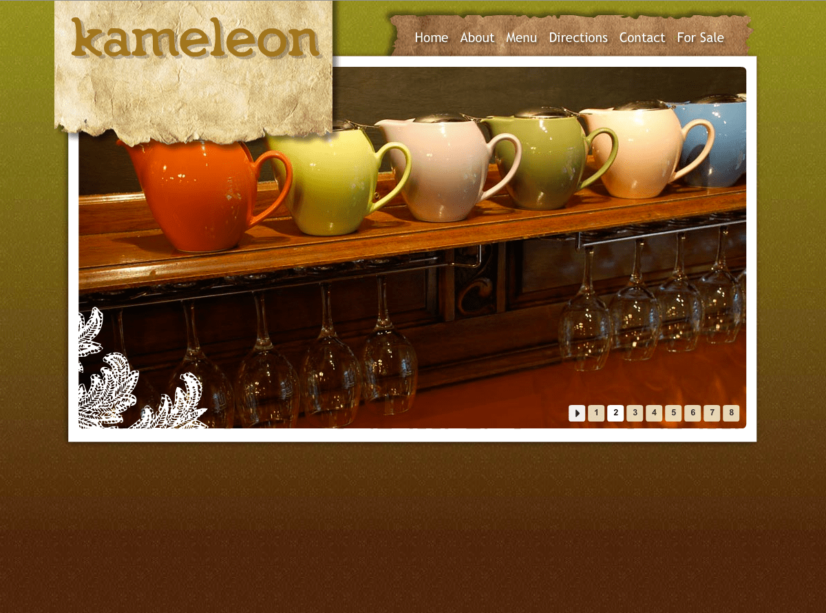 Cafe Kameleon Website Design