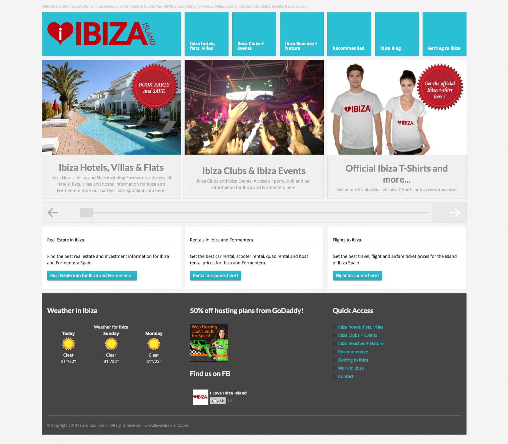 I Love Ibiza Island Website Design