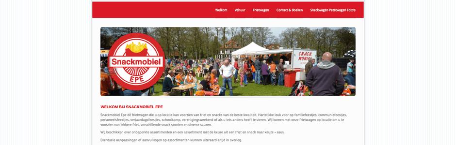 Snackmobile Epe website design