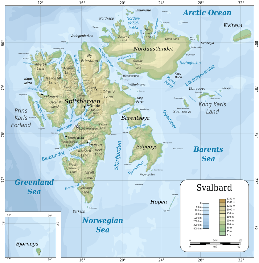Topographic_map_of_Svalbard (c)Wikipedia