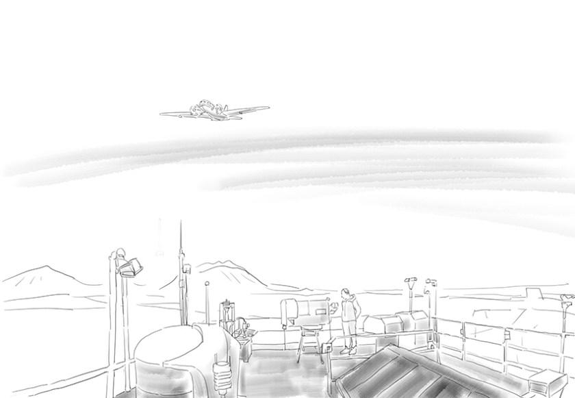 Dach Observatorium mit Flieger(c)kheymach