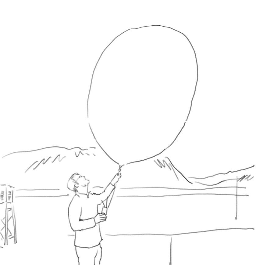Illu-Sandro lässt den Ballon steigen Kopie