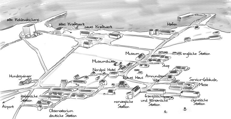 Plan Wissenschaftler-Dorf Ny Alesund