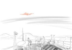 auf dem Dach des Observatoriums in Ny Alesund