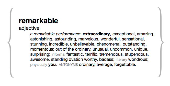 Remarkable Defined 3
