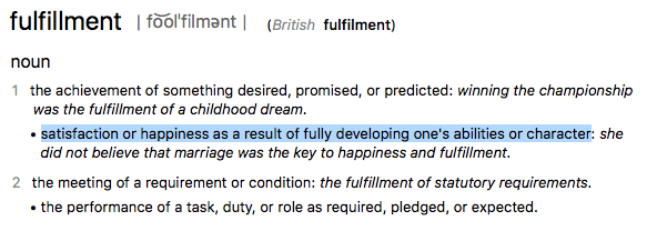 fulfillment word