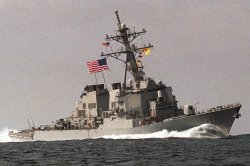 USS Cole At Sea - PHOTO