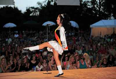 Irish step dancer at Dublin Irish Festival
