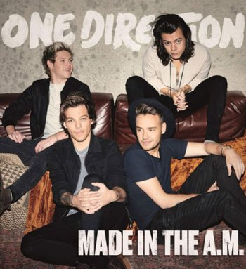 The album cover for One Direction's new album, Made In The A.M.. This photo is curtosey of Syco Music.