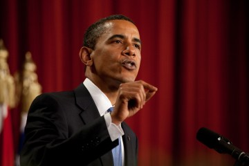 President Barack Obama speaks at Cairo University in Cairo in 2009.  Official White House Photo by Chuck Kennedy