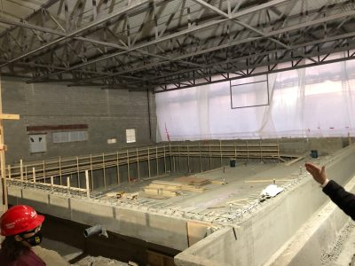 The new pool, which will have 11 total lanes.