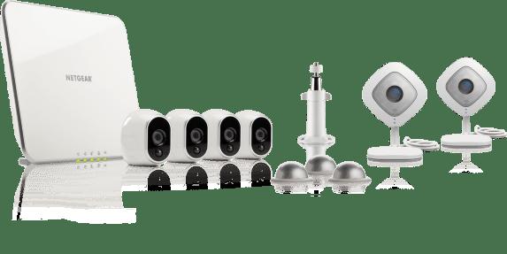 Les caméras Arlo avec Arlo Q et les supports de fixation
