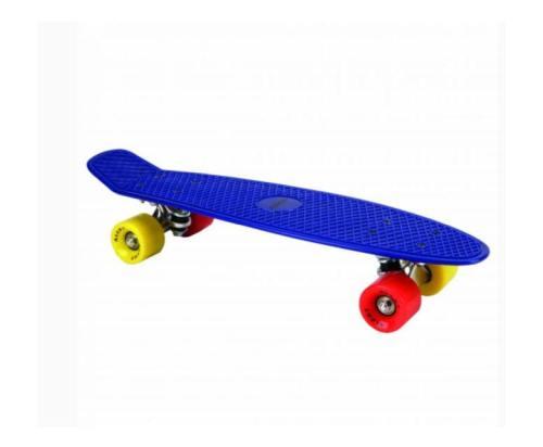 Alert Skateboard Neon Blauw 55cm