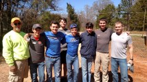 AUMC discipleship group serving with Mr. Young